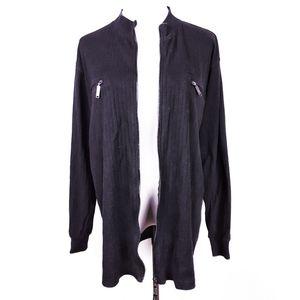 Vintage Versace Jeans Couture 90s Zip Knit Jacket